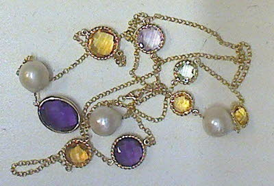 MULTI COLOR STONE & GOLD NECKLACE