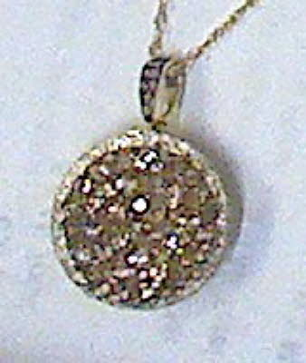 CHOCOLATE ROUND DIAMOND PENDANT