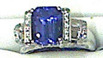 DIAMOND & TANZANITE RING